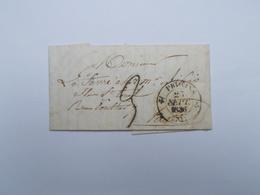 COURRIER DE 1836 DE PROVINS - Marcophilie (Lettres)