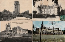 """LOT . 300 Cartes  CPA Et CPSM  """"Châteaux De France""""    Petits Et Grands - Cartes Postales"""