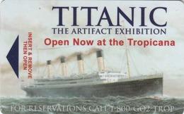 USA Hotel Keycard - Titanic The Artfact Exhibition At The Tropicana Las Vegas, Las Vegas, Used - Cartes D'hotel