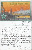 LBR41 - ESPERANTO CARTE POSTALE CIRCULEE 19/2/1914 - Esperanto