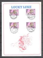 Belgique N° 2390 Lucky Luke Morris Bd Sur Carte 13.10.90 - Philabédés