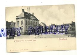 Turnhout. L'Hôtel De Ville Et La Grand'place. Carte Animée. Ed. V.G. - Turnhout