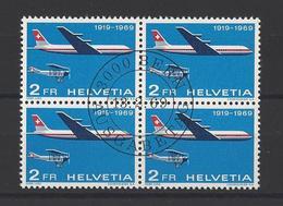 SUISSE. YT   PA  N° 46  Obl  1969 - Poste Aérienne