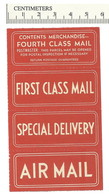 111-80 AIRMAIL First Class Special Delivery Label Etiquette MNH - Cinderellas