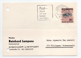 - POSTKARTE KAMP-LINTFORT Pour VILLINGEN (Allemagne) 27.11.1972 - A ETUDIER - - Covers & Documents