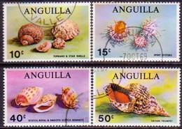 Anguilla 1969 SG #59-62 Compl.set Used Sea Shells - Anguilla (1968-...)