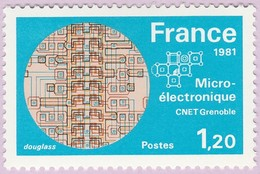 N° Yvert & Tellier 2126 - Timbre De France (Année 1981) - MNH - Microélectronique Du C.N.E.T. (Microprocesseurs) - Francia