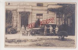 Au Plus Rapide Carte Photo Militaire Chien Voiture Ancienne - Reggimenti