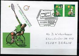 """Germany 2015 Plusbrief Mi.Nr.USo 360""""Behindertensport-Rollstuhltennis,Sporthilfe """"mit ESST""""Essen""""1 Beleg - Behinderungen"""