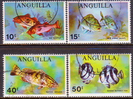 Anguilla 1969 SG #68-71 Compl.set Used Fish - Anguilla (1968-...)