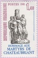 N° Yvert & Tellier 2177 - Timbre De France (Année 1981) - MNH - Mémorial National Résistance Française (Antoine Rohal) - Francia