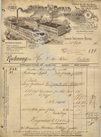 JILLERT & EWALD  Lithografie-Kunstanstalt  Etiquetten  GROSS-STEINHEIM-HANAU  Rechnung Für WINDELS-DELTOUR Malines 1907 - 1900 – 1949