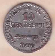 SAINT MARIN Jeton San Marino 10 Centesimi 1936 R - Other