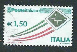"""Italia 2009; Posta Italiana € 1,50, Serie Ordinaria Detta """"busta Che Vola"""" - 2001-10: Usati"""