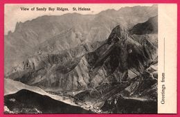 Greetings From - St. Helena - View Of Sandy Bay Ridges - T. JACKSON - Sainte-Hélène
