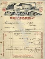 BAURMEISTER & C°  Tabak,Cigarren&Cigaretten Fabriken    CARLSHAFEN  1914 - Deutschland