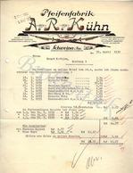 A.R KÜHN  SCHWEINA  I. Thür  Pfeiffenfabrik  Rechnung  An Ernst RATHJEN  Hamburg  25 April 1933 - Deutschland