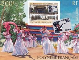 Polynésie Y&T BF 21 China 96 N** MNH - Blocchi & Foglietti