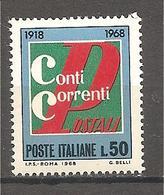 Italia - Serie Completa Nuova: Cinquantenario Dei Conti Correnti Postali - 1968 * G - Posta