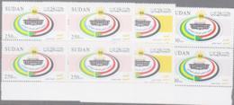 SUDAN - 2004 - PARLIAMENT SET OF 3 IN MARGINAL BLOCKS OF 4 MINT NEVER HINGED ,SG £44+ - Sudan (1954-...)