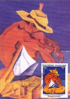 Polynésie Y&T 494/497 Cartes Max Artistes Peintres - Storia Postale
