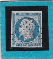 N° 14 A  PC 384  BESSINES / HAUTE-VIENNE  REF 12118  Avec Variété  IND 13  COTE 100€ - 1853-1860 Napoléon III