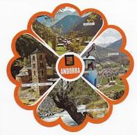 Andorra - Carte Ronde Diamètre 15 Cm : Multi Vues Non écrite - Andorra