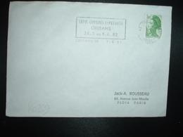 LETTRE TP FRANCE LIBERTE 1,40 OBL.MEC.7-5 1982 45 ORLEANS 01 LOIRET EXPO. CONGRES ESPERANTO ORLEANS 24-5 AU 1-6-82 - Esperanto