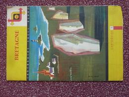 Carte Routière Touristique SHELL, Bretagne, Illustration De Jean Colin - Roadmaps
