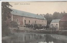 Ohey , ( Andenne ) : Ferme Du Château , Cour De Ferme Animée Avec Machine à Battre ( Cheval... ) COLORISEE - Ohey
