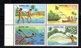 BF64 - PALAU 1984 , Serie Yvert N. 51/54  ***  Ausipex - Palau