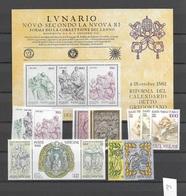 1982 MNH Vaticano, Vatikanstaat, Year Collection, Postfris** - Annate Complete