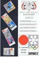 ALBUM - YEMEN ARAB REPUBLIC - SAPPORO'72 - Albums & Reliures