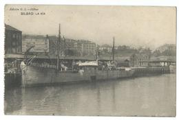 CPA Bilbao Espagne La Ria Bateau Navire - Espagne