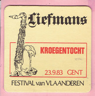 Bierviltje - Liefmans - Festival Van Vlaanderen - Kroegentocht 23.9.83 GENT - Sous-bocks