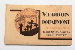 20 CPA - Carnet Complet Verdun - Douaumont 1932 Circuit Des Forts - Guerra 1914-18