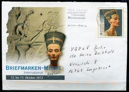 """Germany 2013 Plusbrief Schätze Aus Museen,Nofretete Mi.Nr.USo306 Mit MWST""""BZ14-100 Jahre Christoffel Blindenmi.""""1 Beleg - Archäologie"""