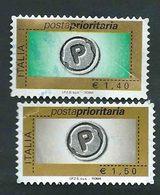 Italia 2007; Posta Prioritaria € 1,40 + € 1,50, Serie Completa Senza Millesimo - 2001-10: Usati