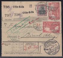 DR Paketkarte Für 3 Pakete Mif Minr.90I, 2x 94AI Cöln-Sülz 18.3.14 Gel. In Schweiz - Deutschland