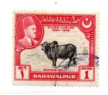 PB198 - BAHAWALPUR INDIA 1949 : Yvert N. 21  Usato  Silver Jubilee - Bahawalpur