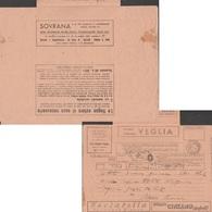 Italie 1939. Télégramme Publicitaire. Hôtel, Montres Et Horloges, Vermouth, Vin Mousseux, Mode, Théâtre Cinéma Mode - Cinéma