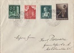 DR Brief Mif Minr.700,701,714,715 SST Berlin 6.10.39 - Briefe U. Dokumente
