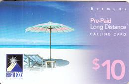 BERMUDA ISL. - Beach, North Rock Prepaid Card $10, 03/04, Used - Bermude