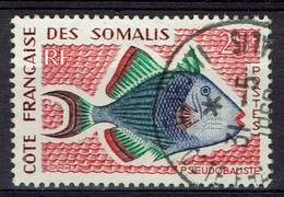 French Somali Coast, Fish, Pseudobalistes, 1959, VFU - Oblitérés