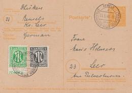 AM-Post GS Zfr. Minr.3 UR, 16 Remels Stickhausen-Velde (Ostfriesl.) 31.5.46 Seltener Stempel !!!!!!!!!! - Bizone