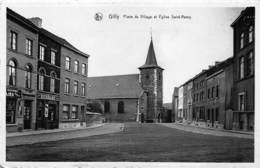 Henegouwen  Charleroi   Gilly   Place Du Village Et église Saint Remy        I 5352 - Charleroi