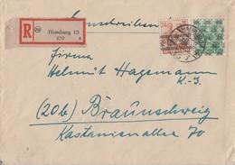 Bizone R-Brief Mif Minr.44I,51II Hamburg - Bizone