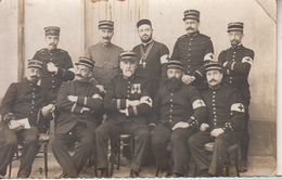 Militaires Gradés Croix Rouge Carte Photo  De 1914 - Guerre 1914-18
