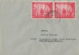 Gemeina. Brief Mef Minr.2x 965 Dillenburg 25.10.47 - Gemeinschaftsausgaben