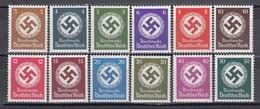 Deutsche Reich 1942/44 - Dienstmarken, Mi-Nr. 166/77, MNH** - Allemagne